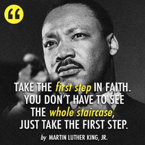 MLK first step